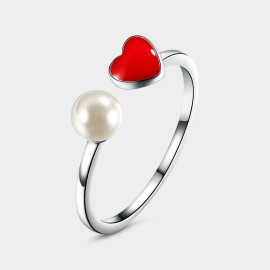 Seventy 6 Pubescent Heart Red Ring (4540)