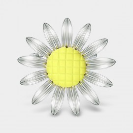 Seventy 6 Mini Sunflower Silver Brooch (5925)