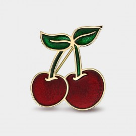 Seventy 6 Sweet Cherry Red Brooch (5928)