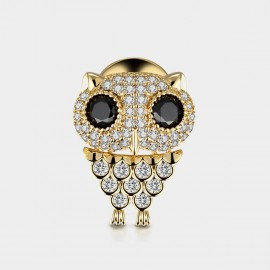 Seventy 6 Night Owl Gold Brooch (5937)