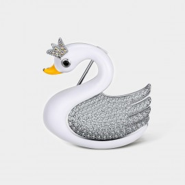 Seventy 6 Swan Queen White Brooch (5938)