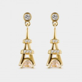 Seventy 6 Lighthouse Gold Earrings (8961)