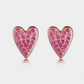 Seventy 6 Loving Heart Rose Earrings (8988)
