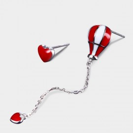 Seventy 6 Hot Balloon Red Earrings (20304)