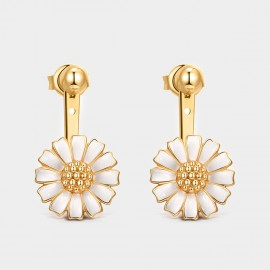 Seventy 6 Sunny Daisy Gold Earrings (20309)