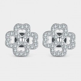 Seventy 6 Queen Flower White Earrings (81006)