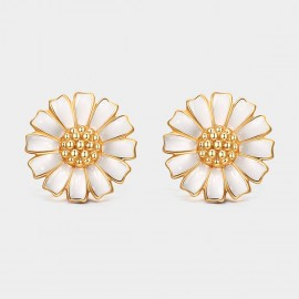Seventy 6 Bright Daisy Gold Earrings (81012)