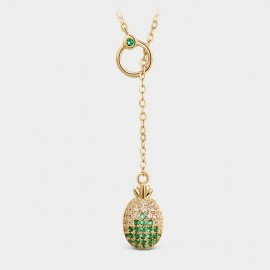 Seventy 6 Pineapple Green Necklace (B2549)