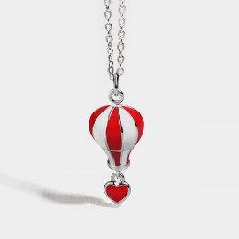 Seventy 6 Hot Balloon Red Necklace (B2551)