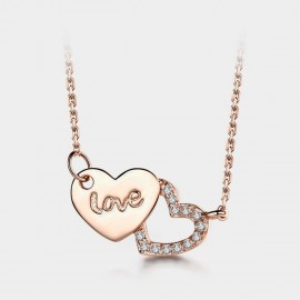 Seventy 6 Forever Mark Rose Gold Necklace (B2534)