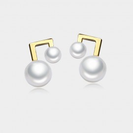 Caromay Musical Note Champagne Gold Earrings (E2623)