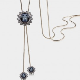 Caromay Crystal Sunflower Blue Long Chain (X1698)