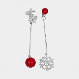 Caromay Little Christmas Deer Siver Earrings (E2756)