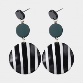 Caromay Artwork Black Earrings (E2787)