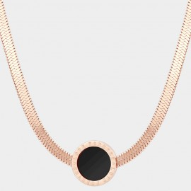 Caromay Titanium Love Forever Rose Gold Necklace (X1430)