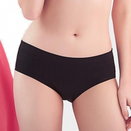 Bramagi Hidden Stripe-Pattern Black Panties (BM3002)
