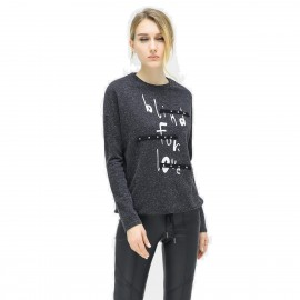 Cocobella Studded Blind For Love Charcoal Sweater (TE600)