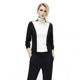 Cocobella Extra High Turtle Neck Black Knit (YN414)