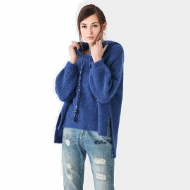 Cocobella Hooded Assymetrical Blue Knit (YN486)