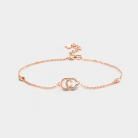 Seventy 6 Double C Rose Gold Bracelet (3929)