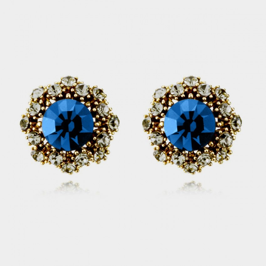 Caromay Vintage Flowers Gold Earrings (E0333)