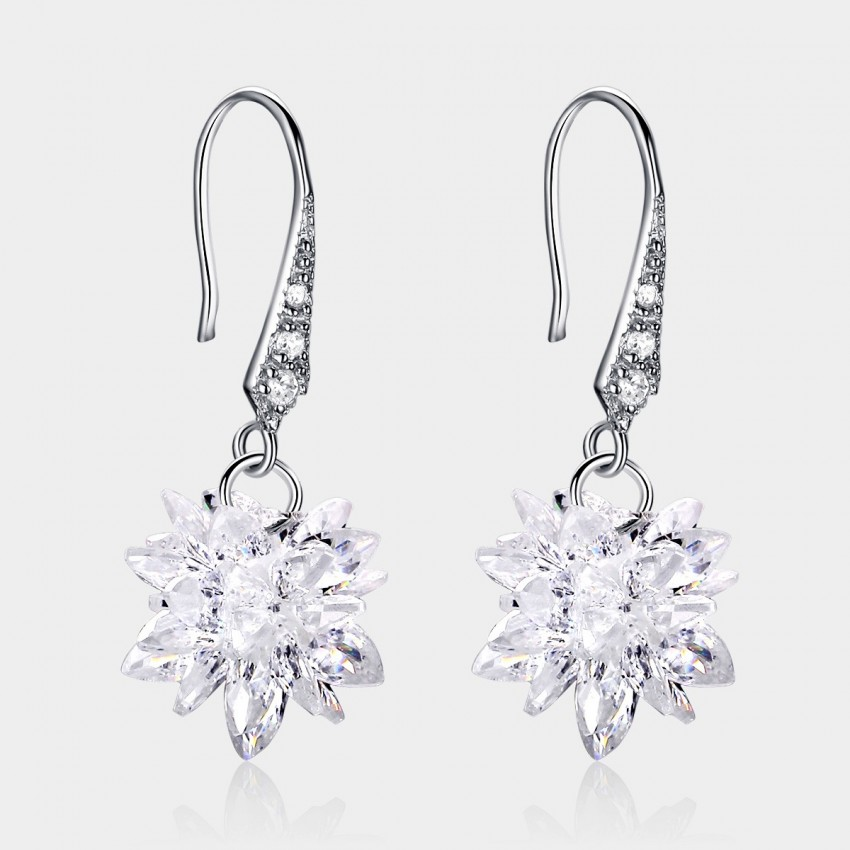 Caromay Snow Flower Silver Earrings (E0514)