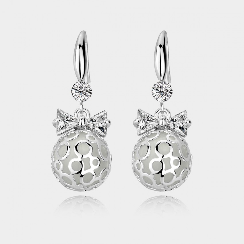Caromay Shining Ball Silver Earrings (E0535)