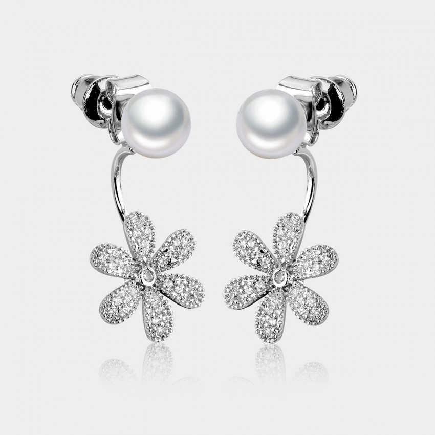 Caromay Smiling Daisy Silver Earrings (E0544)