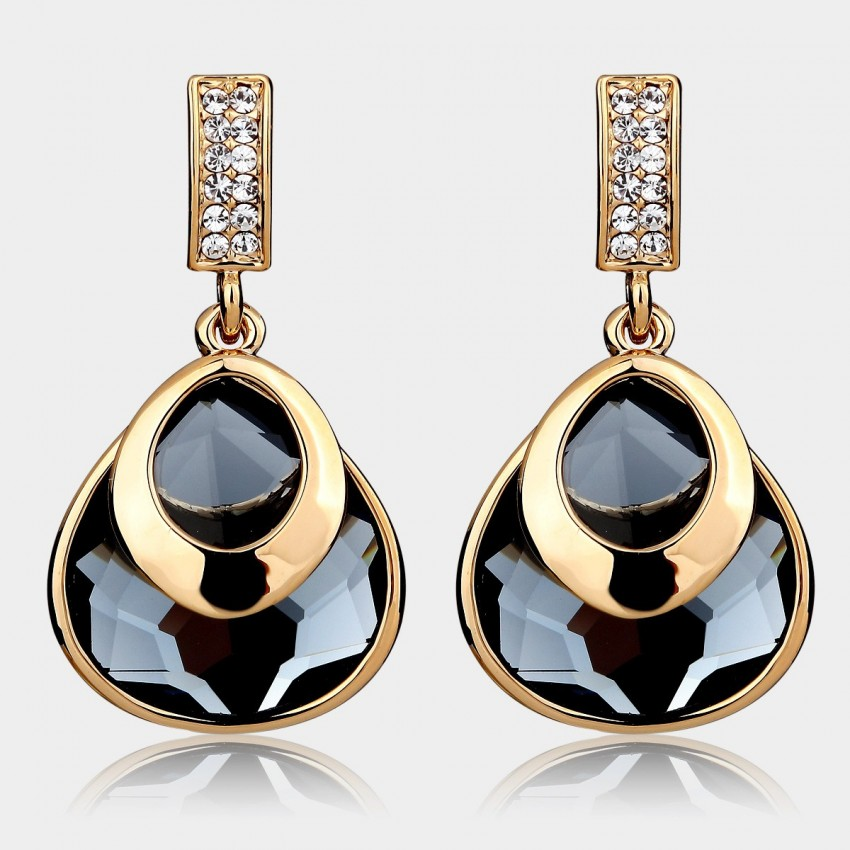 Caromay Graceful Crystal Brown Earrings (E3893)