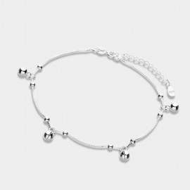 Caromay Small Bell Silver Anklet (H0069)