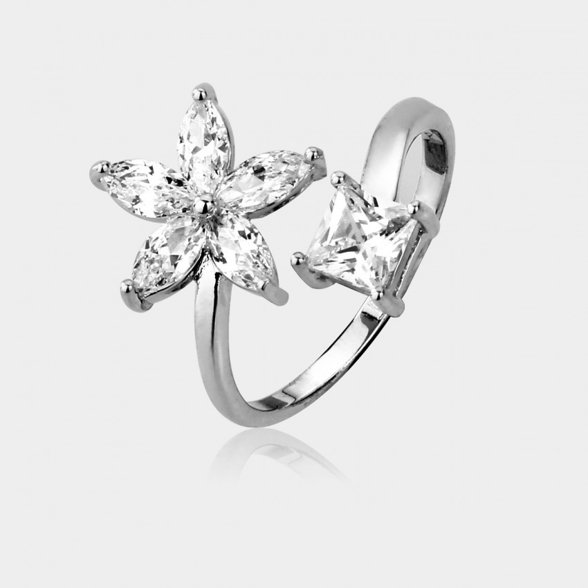 Caromay Blooming Lily Silver Ring (J0114)