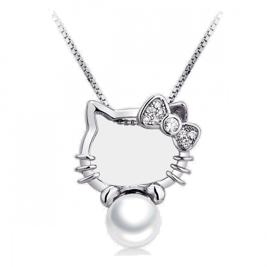Caromay Kitty Silver Necklace (X0023)