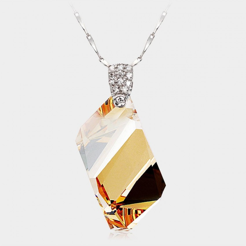 Caromay CLEAR Champagne Gold Necklace (X0035)