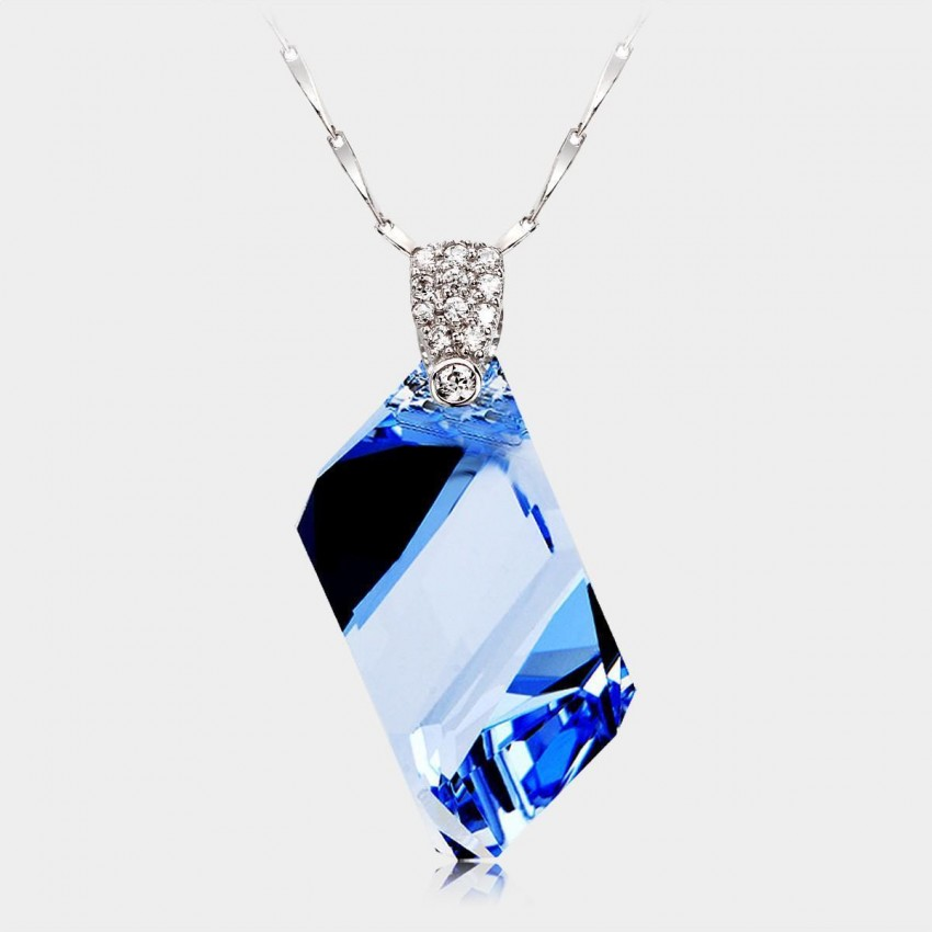 Caromay CLEAR Sapphire Necklace (X0035)