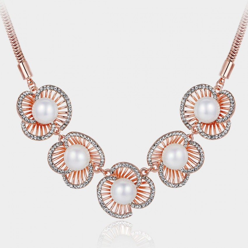 Caromay Queen Shell Rose Gold Necklace (X0285)