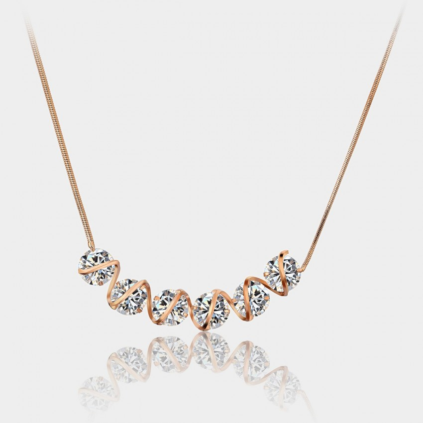 Caromay Stream Rose Gold Necklace (X0413)