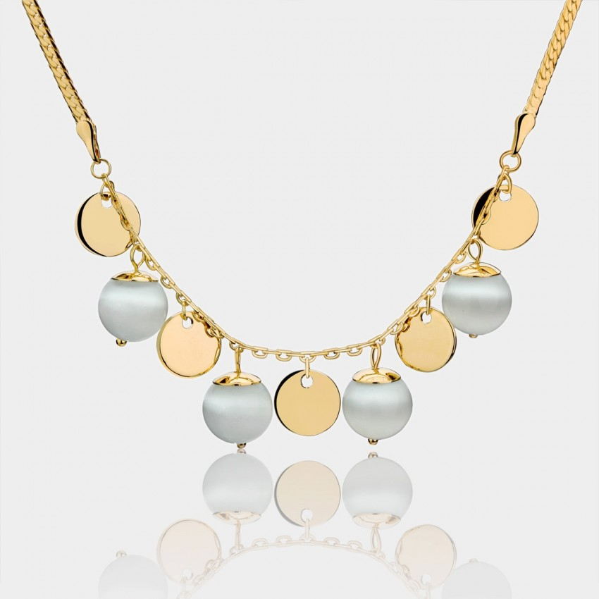 Caromay Bead Curtains Gold Necklace (X0712)