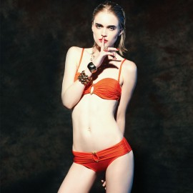 Balneaire Fierce Ruching Orange Bikini (82049)