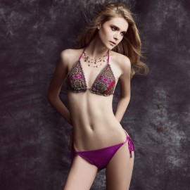 Balneaire Knitted Top and Back Rose Bikini (82395)