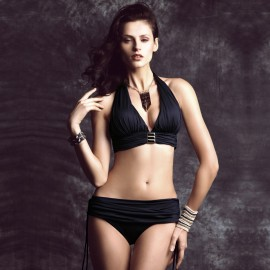 Balneaire Royal Semi Skirted Black Bikini (82396)