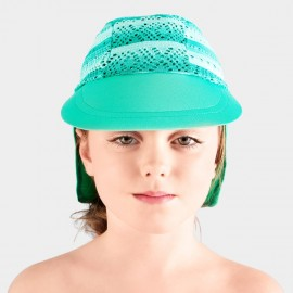 Balneaire Striped Girl Green Swimming Cap (230004)