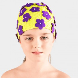 Balneaire Flowers Girl Yellow Swimming Cap (230015)