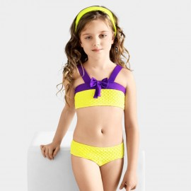 Balneaire Purple Ribboned Girl Yellow Bikini (280001)