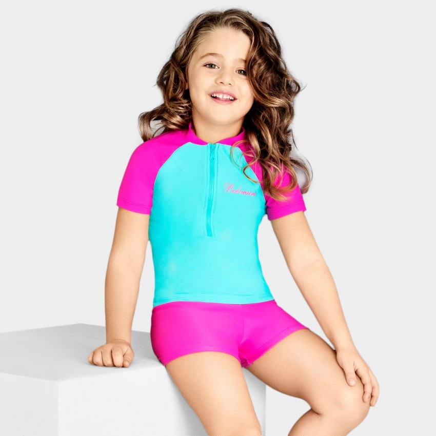 Roxy Bo I Waves One-Piece G, Souffle Carvico Lafi ROXY™ Girls Born In Waves One-Piece Swimsuit - Girls' one-piece swimsuit made from soft, resistant stretch fabric, featuring a fashion one-piece shape, and finished with regular coverage.