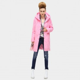 Cocobella Diamond Quilted Pink Down Coat (CT347)