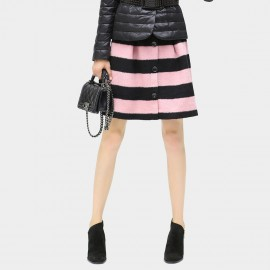 Cocobella Black & Pink Stripe Skirt (DS328)