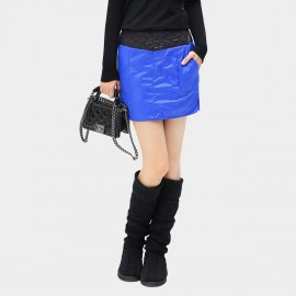 Cocobella Diamond Quilted Colorblock Blue Skirt (DS339)