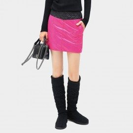 Cocobella Diamond Quilted Colorblock Rose Skirt (DS339)