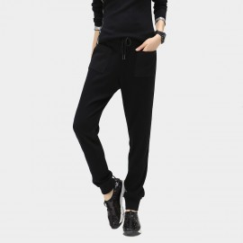 Cocobella Drawstring Black Sweatpants (PT152)
