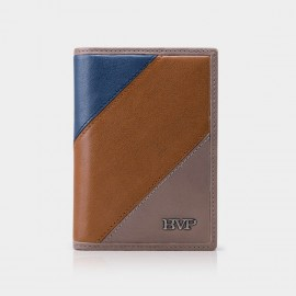 BVP Three-toned Small Brown Wallet (M201)